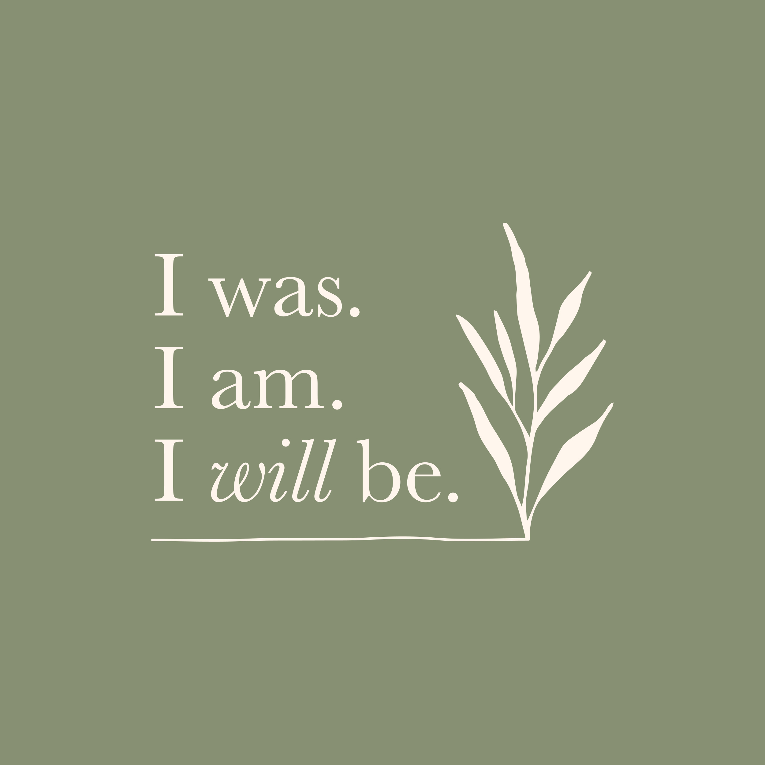 'I was, I am, I will be' mental health and well-being logo